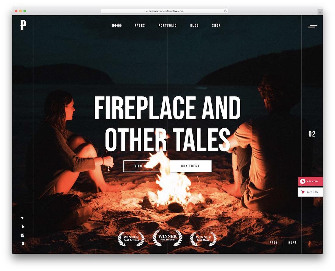 pelicula movies wordpress theme