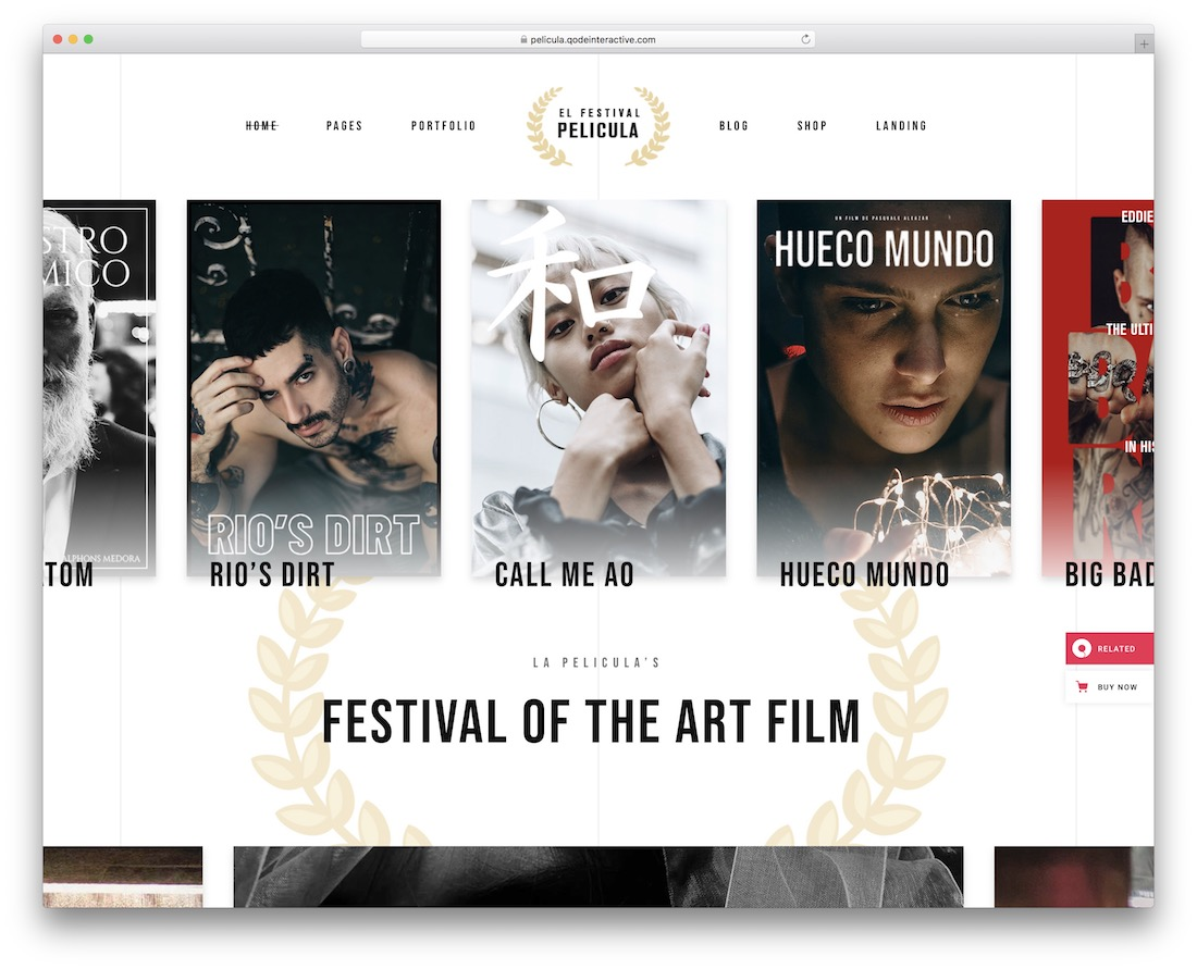 pelicula video website template