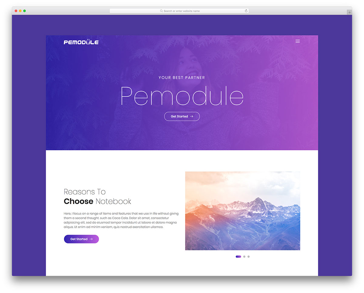pemodule free mobile-friendly website template
