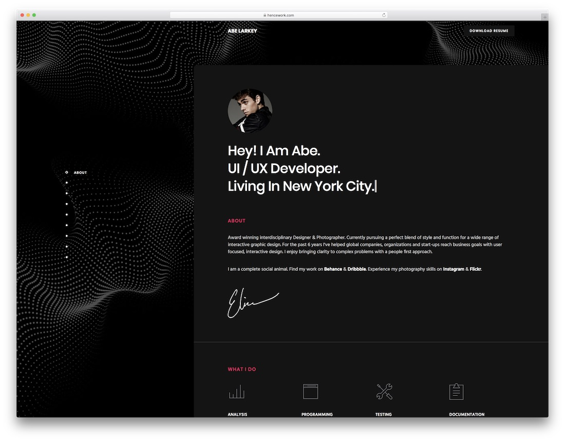 penelope responsive resume website template