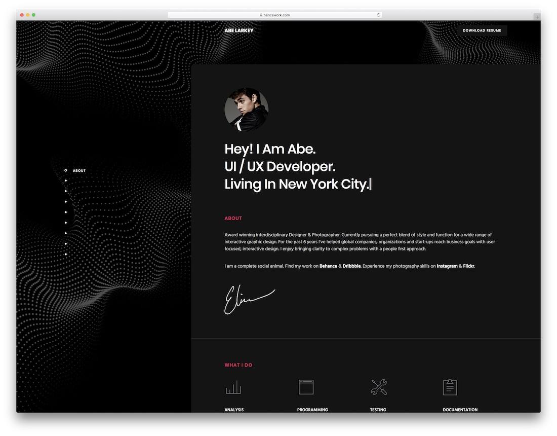 penelope responsive resume website template