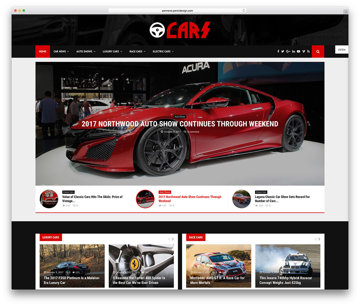 Top Car Automotive WordPress Themes Colorlib - Car show board template