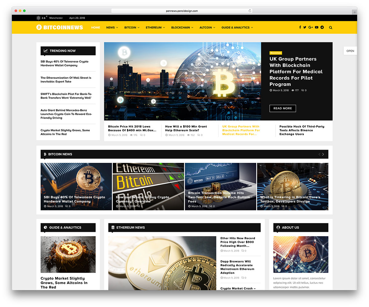 6c46053af 28 Best Bitcoin   Cryptocurrency WordPress Themes 2019 - Colorlib
