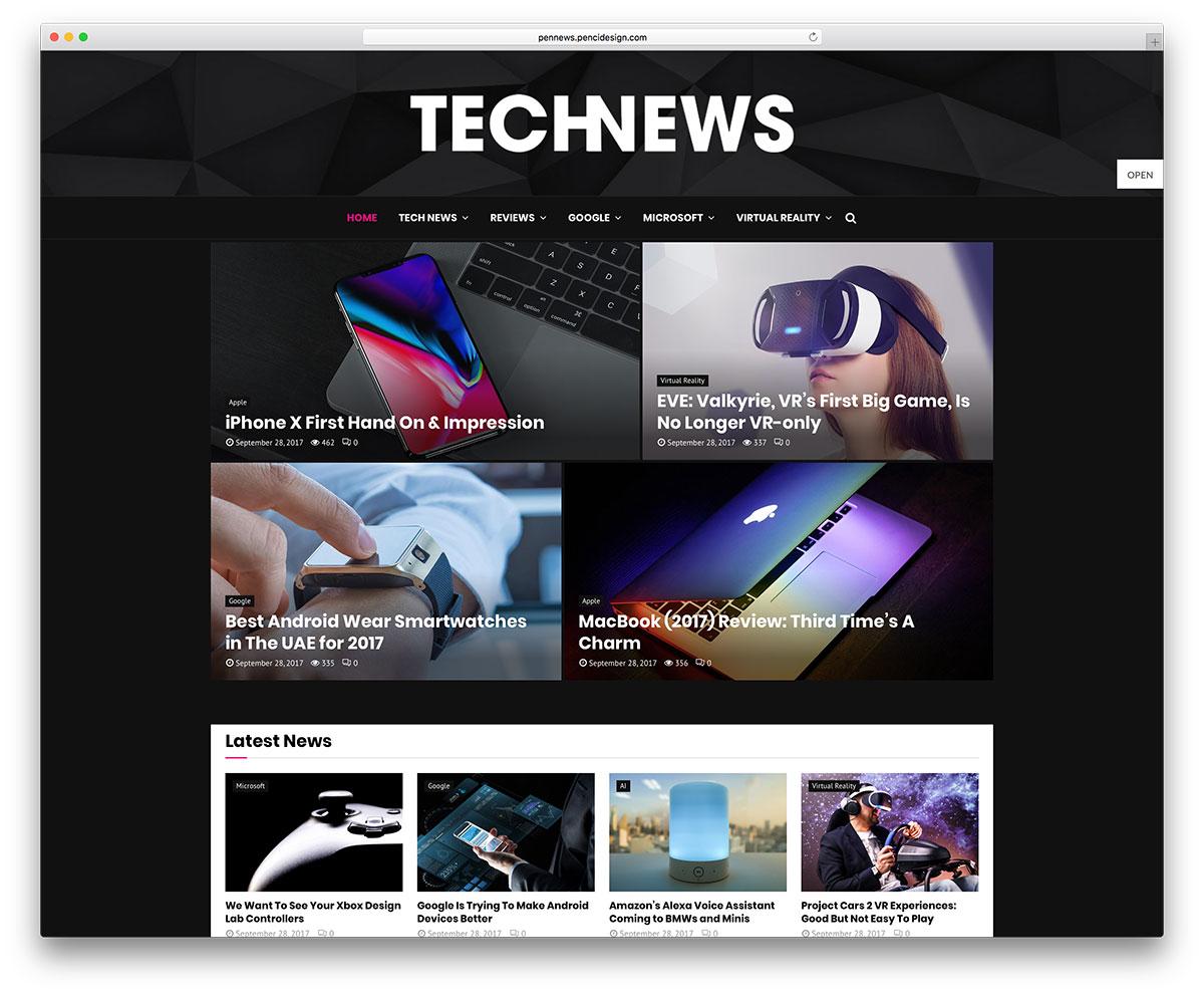 30 Awesome Tech News WordPress Themes 2019 - Colorlib