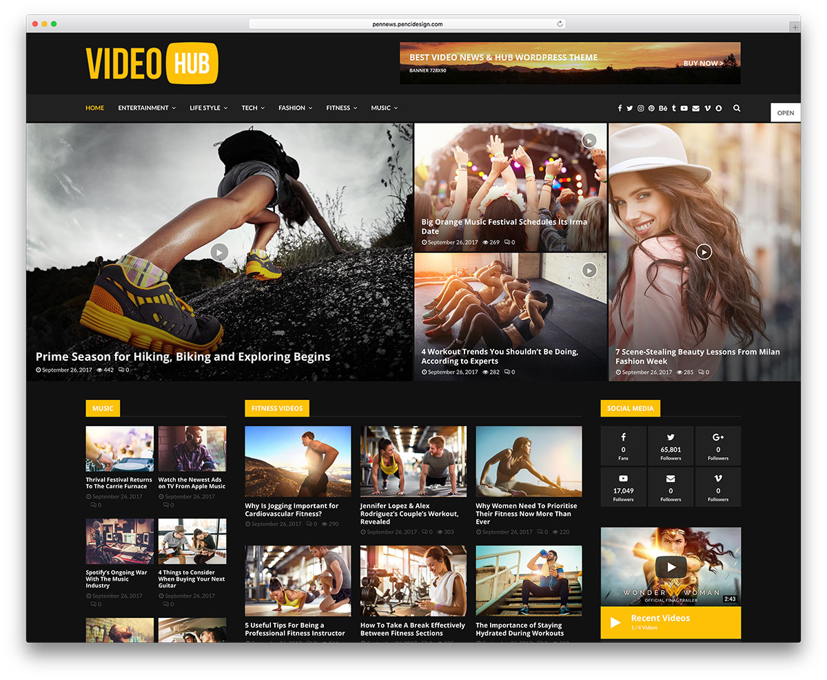 Best WordPress Video Themes For Embedded and Self Hosted Videos 2019
