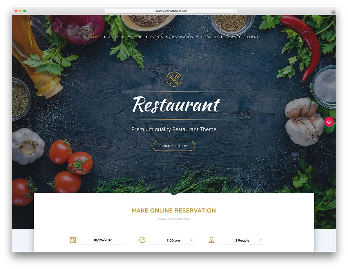 43 best wordpress restaurant themes 2018 colorlib