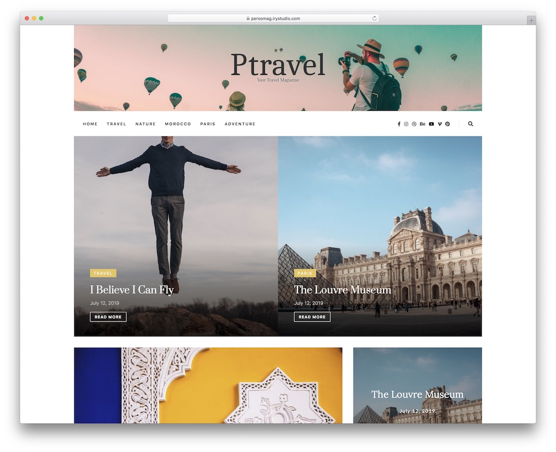 persomag wordpress instagram theme