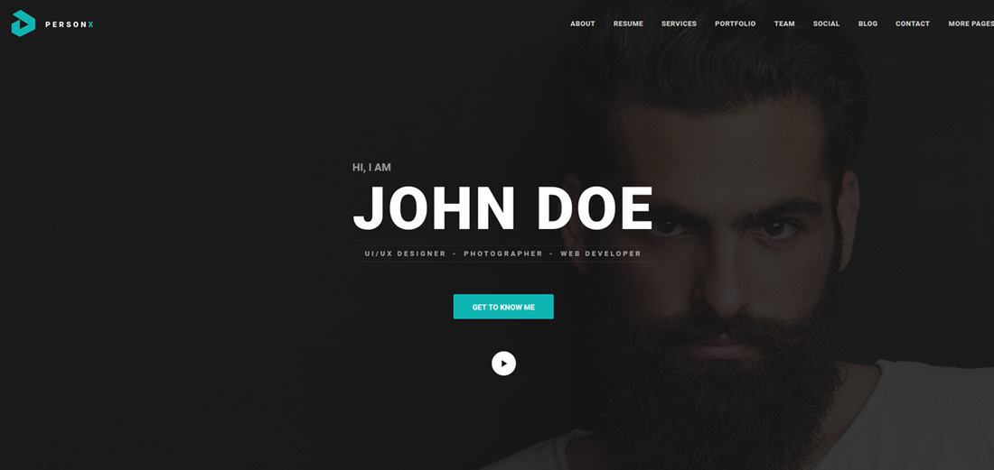 person-x-bootstrap-personal-website-templates
