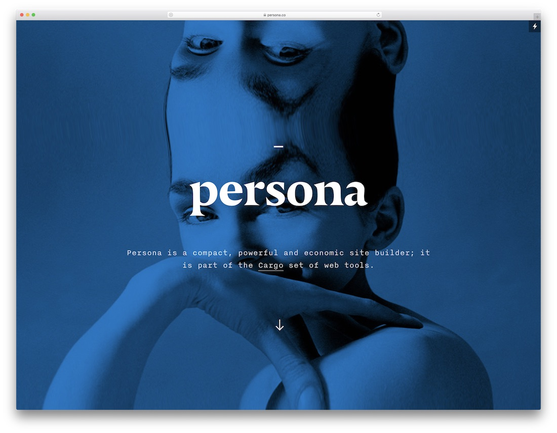 persona best one page website builder