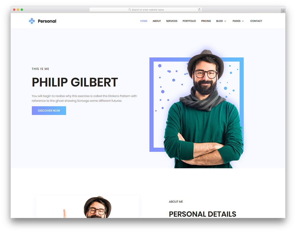 20 free personal website templates to boost your brand 2018 colorlib personal free template maxwellsz