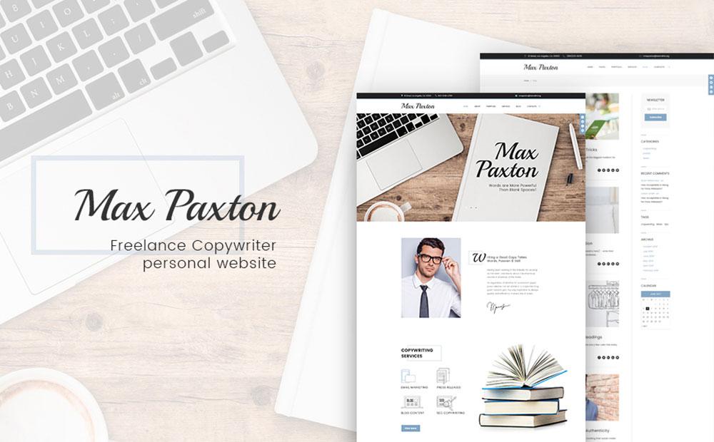 Profile Page WordPress Theme