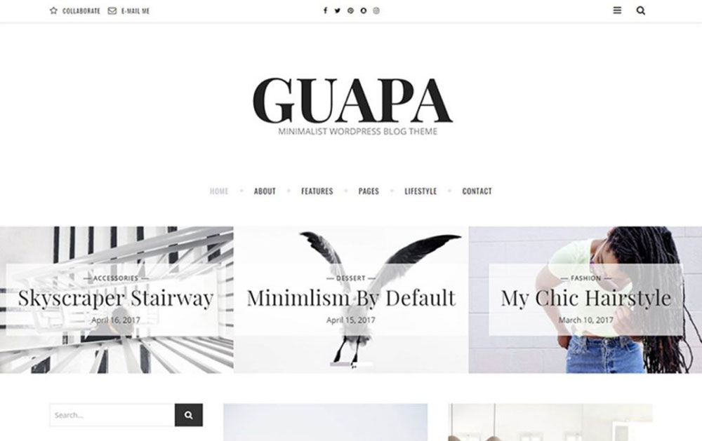 A Minimalist WordPress Blog Theme WordPress Theme