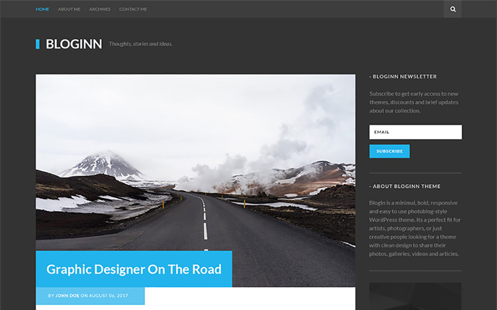 - Bold Theme For WordPress WordPress Theme