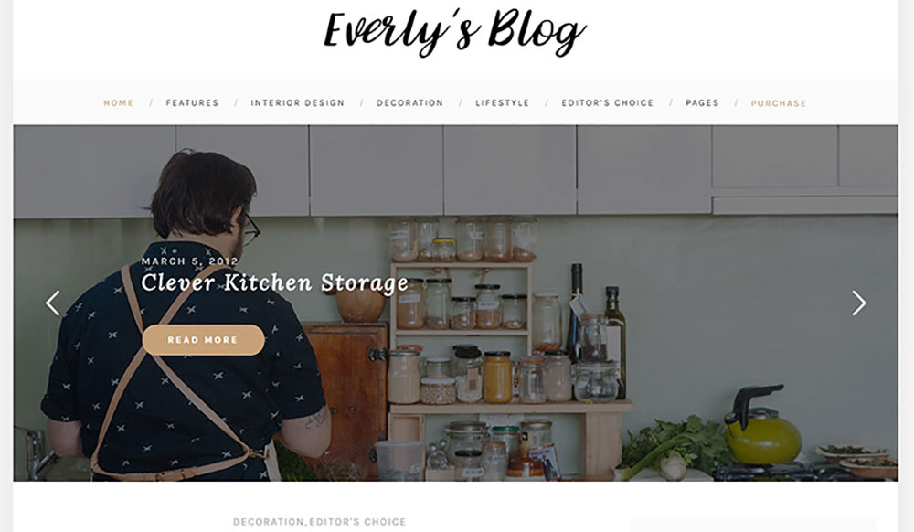 Hipster Blog WordPress Theme