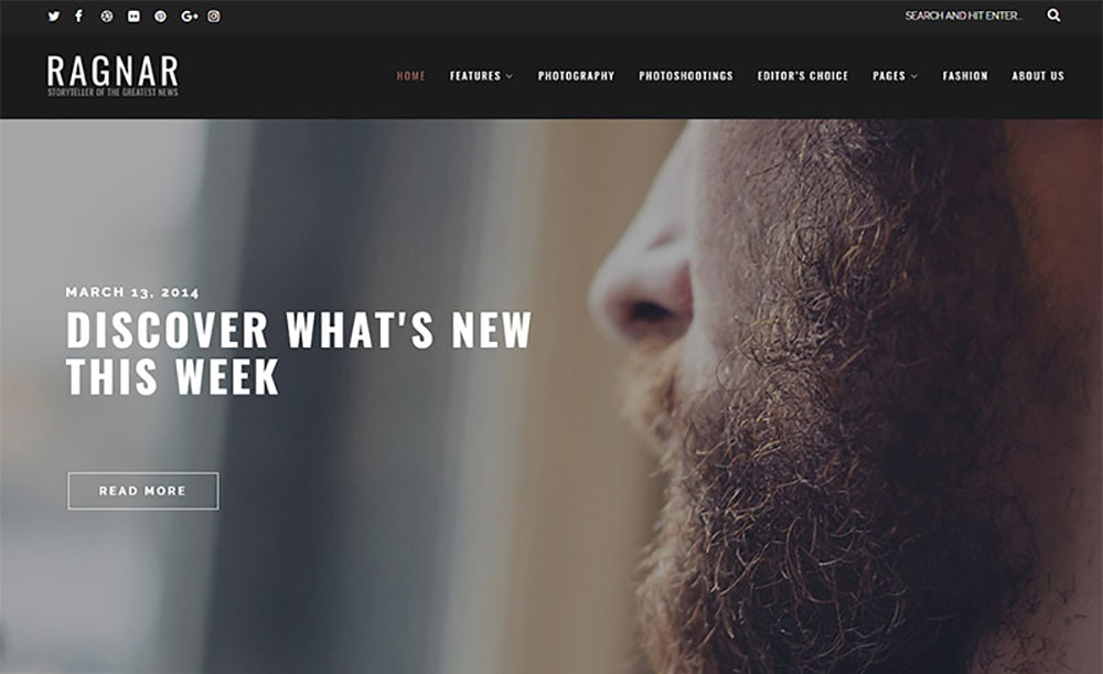 A Bold WordPress Theme