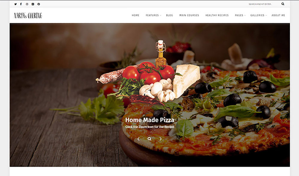 Food Blog For Cooks WordPress Theme