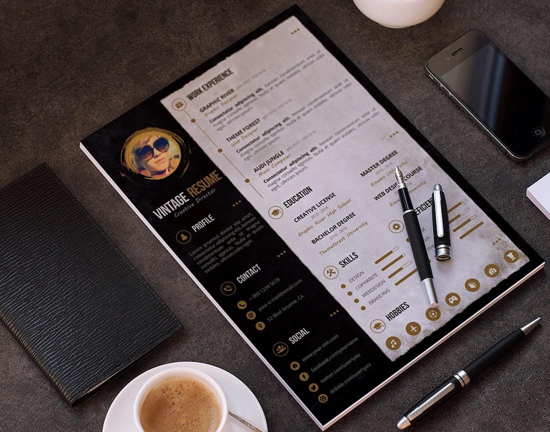 personal resume cv portfolio template