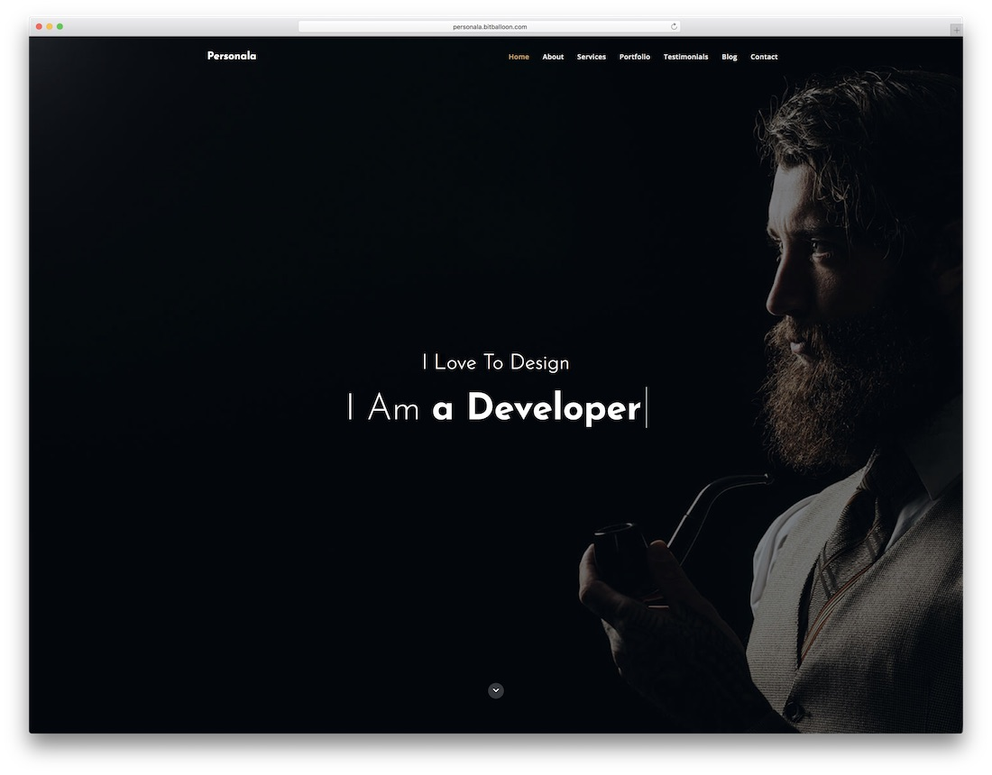 personala freelancer website template