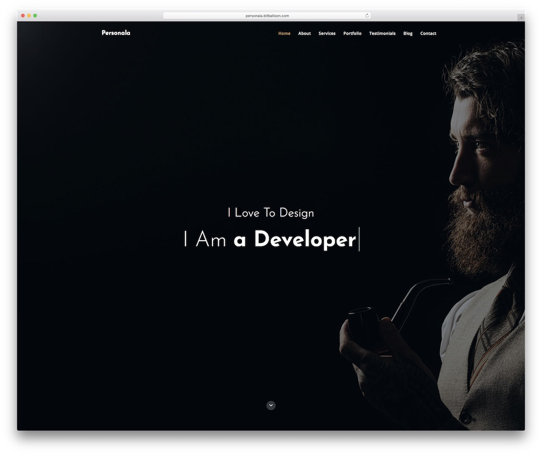 personala personal website template
