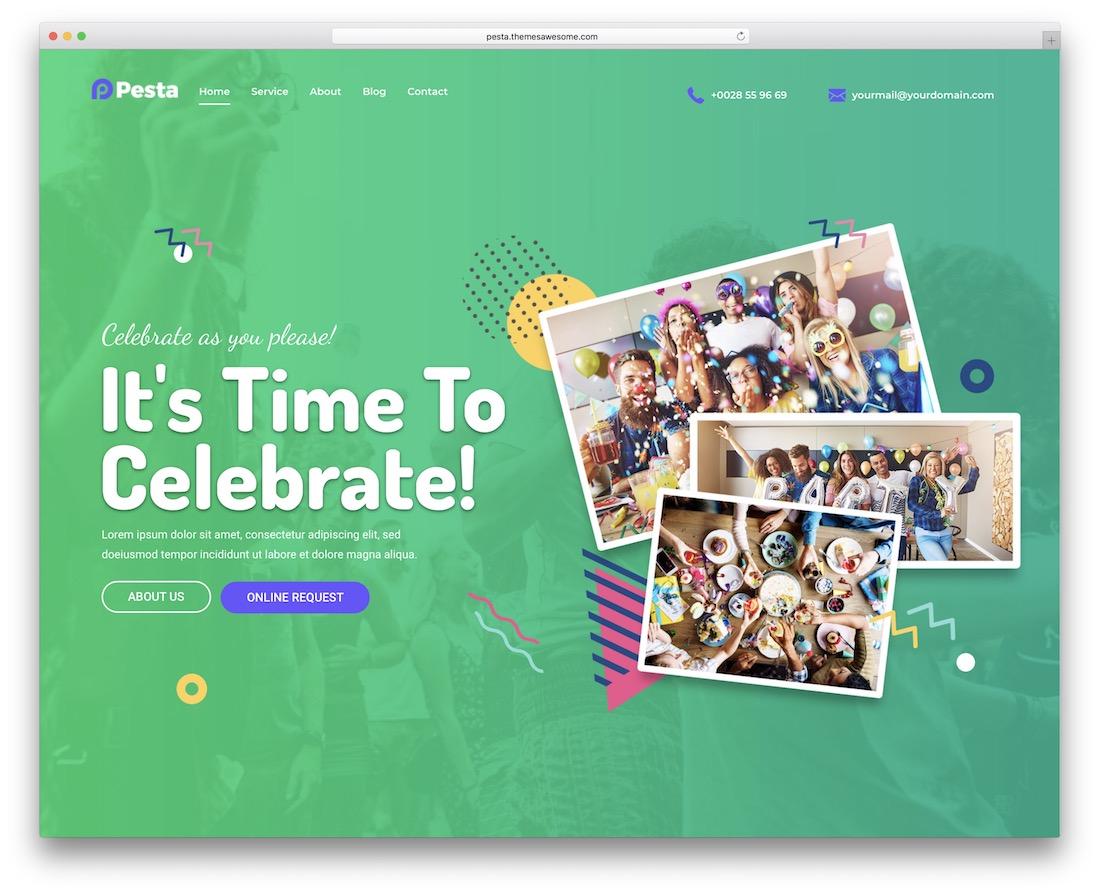 pesta event planner wordpress theme