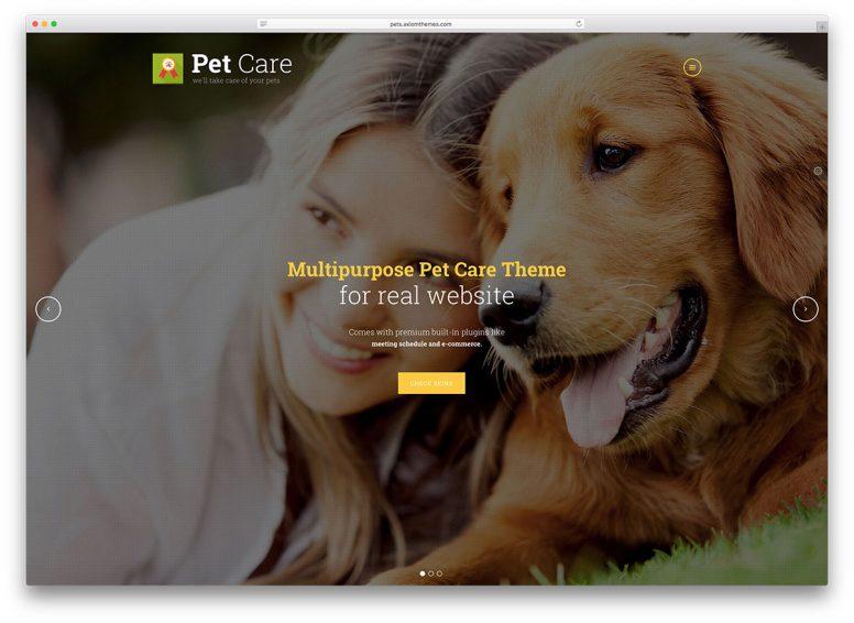 20 Cutest Animals And Pets WordPress Themes 2018