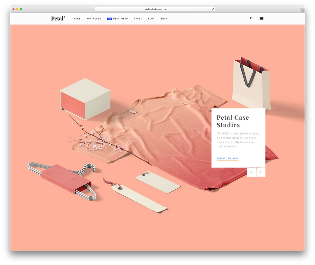 petal-miniaml-creative-agency-theme