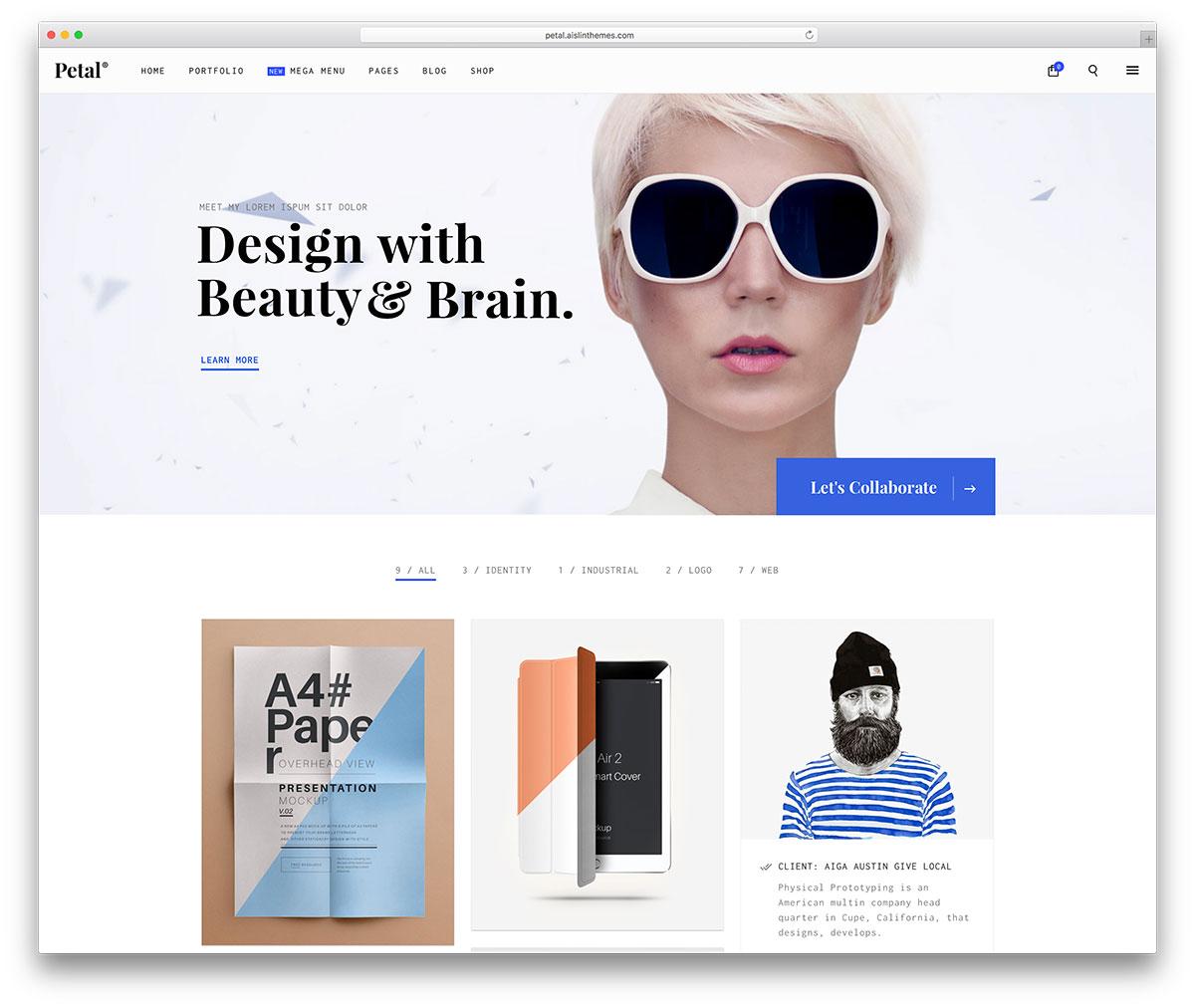 petal-minimal-portfolio-website-theme
