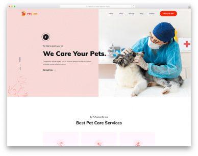 Petcare Free Template