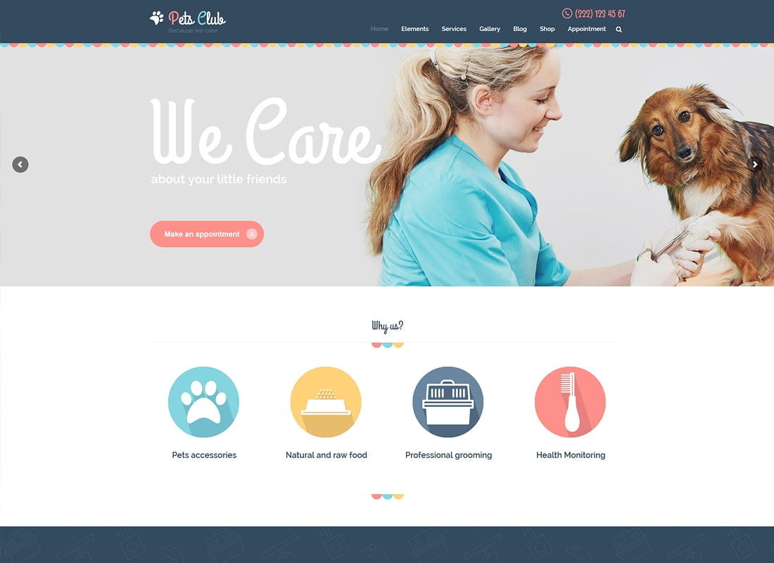 Pets Club | Pet Care, Shop & Veterinary WordPress Theme