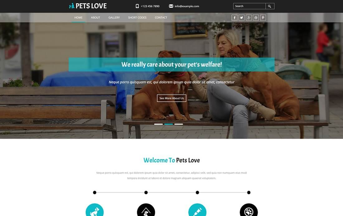 pets love free simple html template