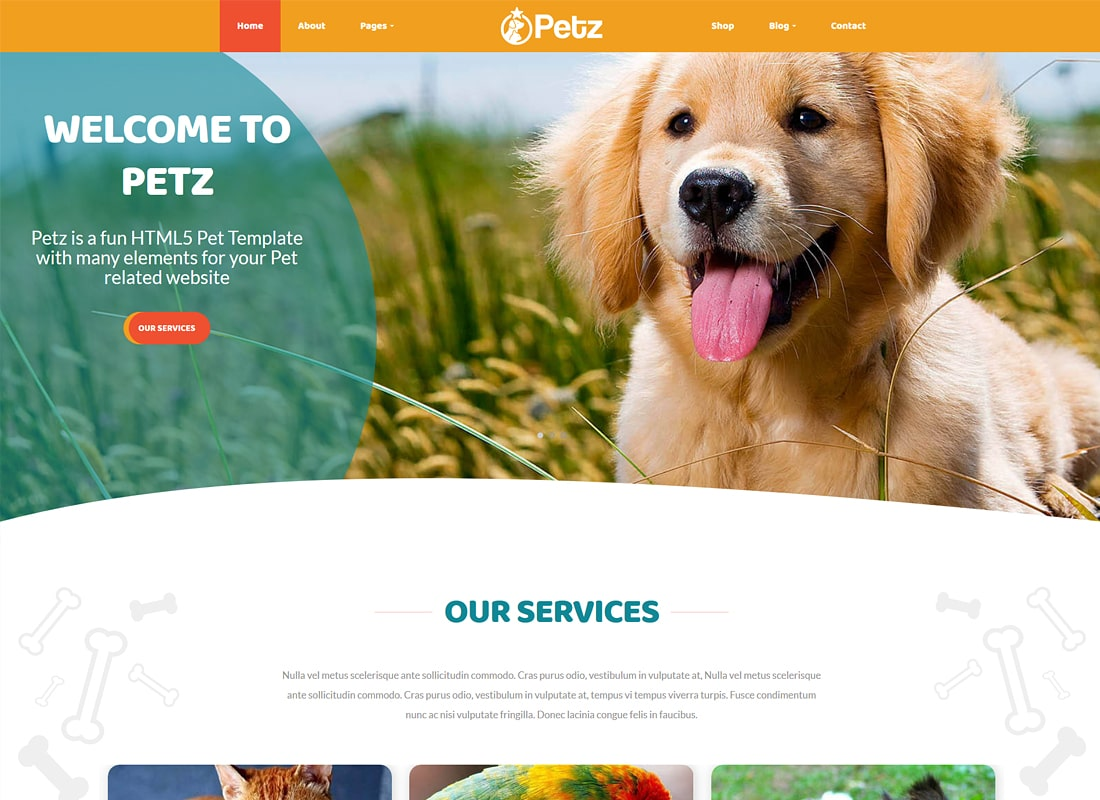 Petz | Pet Care & Veterinary WordPress Theme