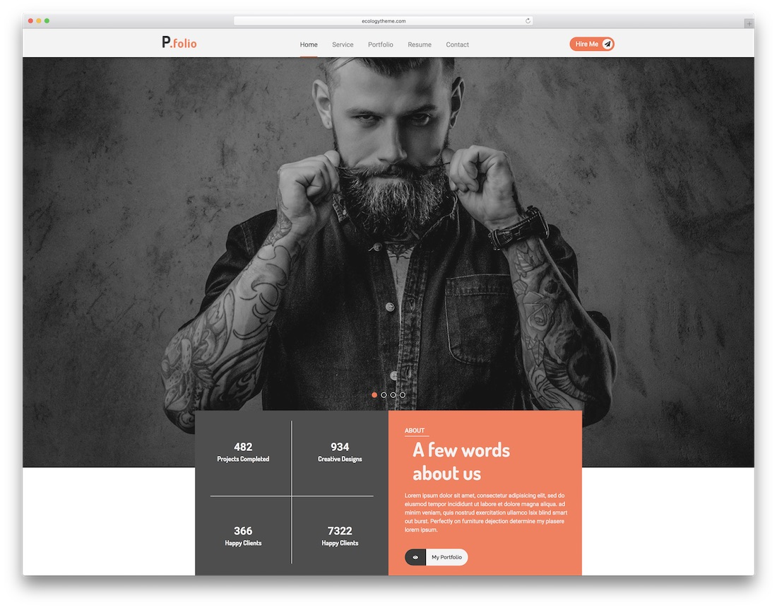 pfolio artist website template