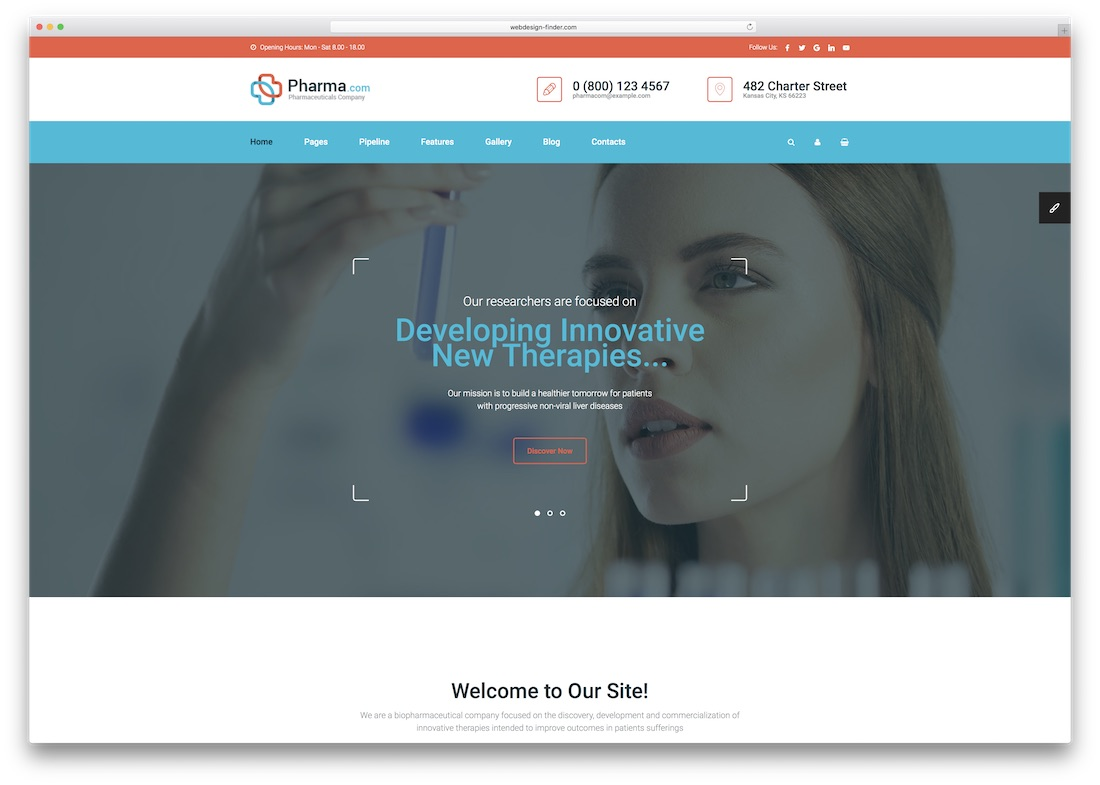 pharma medical website template