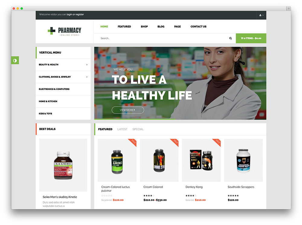 pharmacy professional woocommerce shop theme