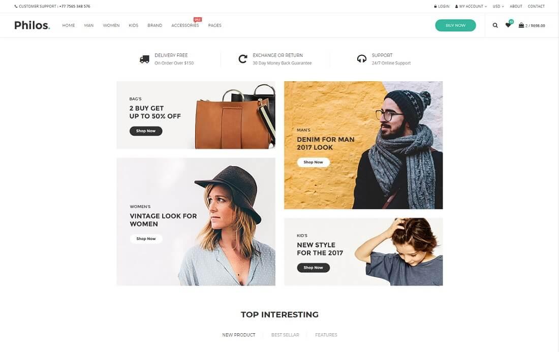 19 Top Apparel & Fashion Website Templates 2018 - Colorlib