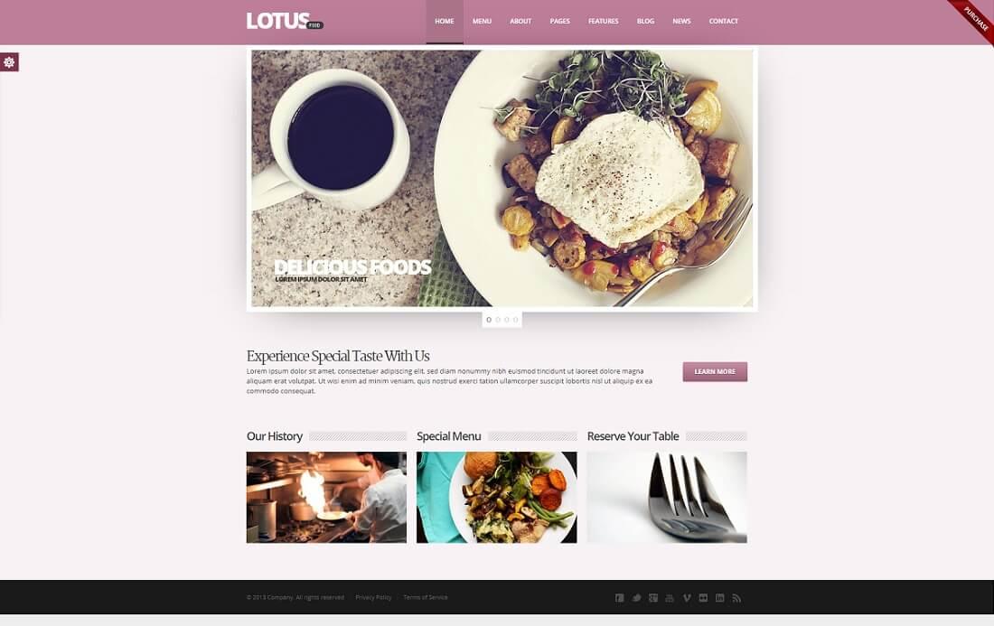 phlox pro catering wordpress theme