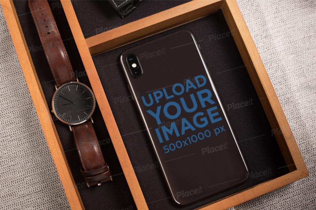 phone sticker mockup
