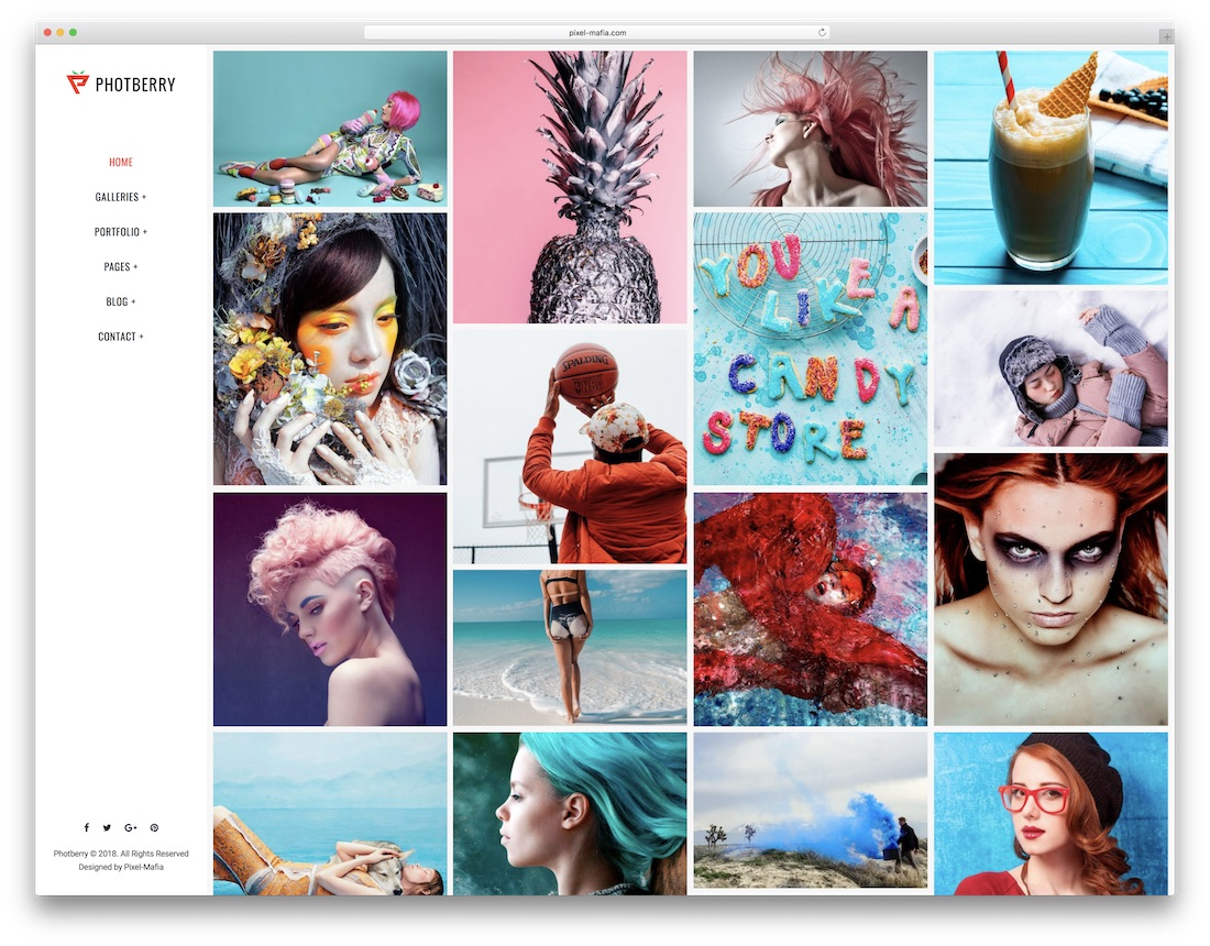 photberry interior design website template