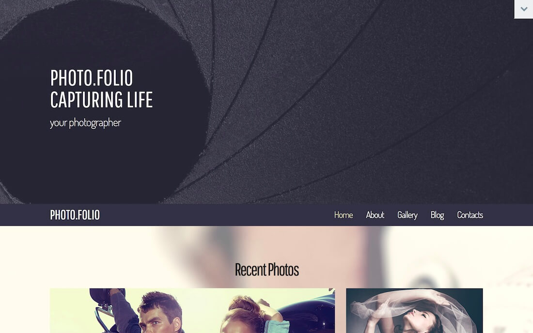 photo folio free photography website template