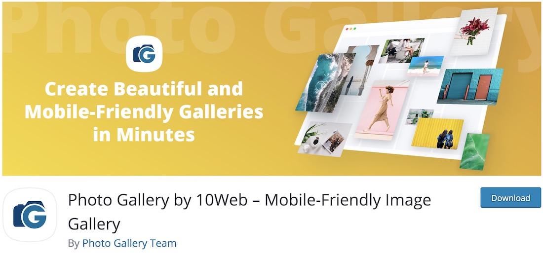 photo gallery by 10web free wordpress plugin