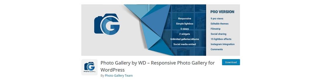 photo gallery by wd free wordpress plugin