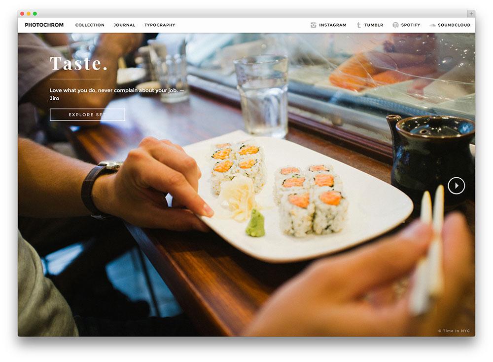 photochrom - minimal WordPress theme