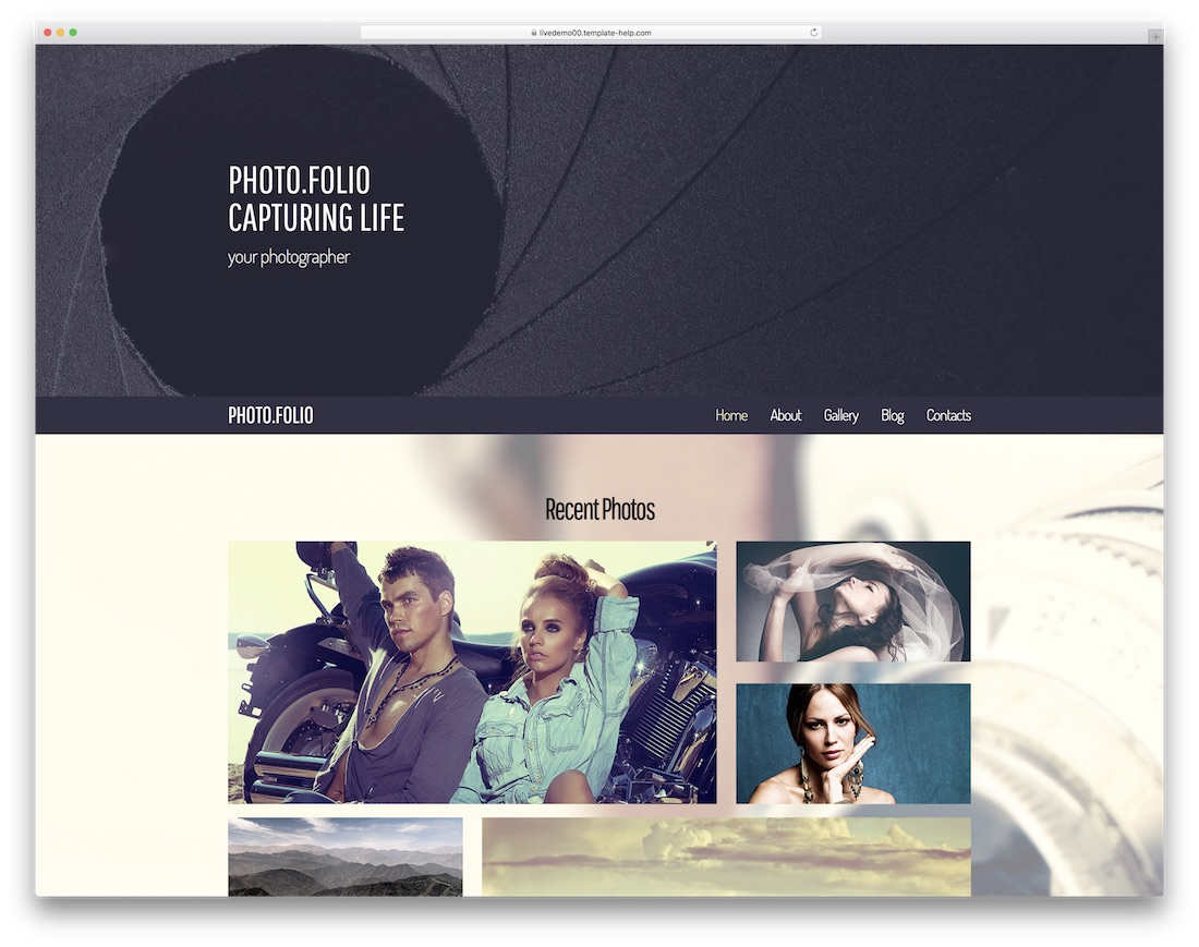 photofolio best free photography website template