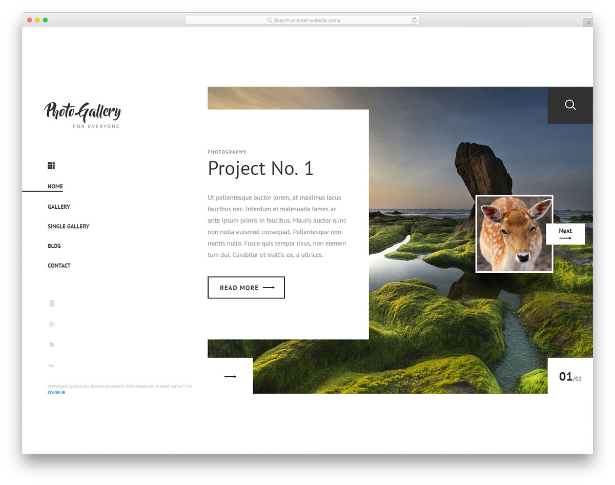 22 Free Photography Website Templates For Photographers 2019 Colorlib