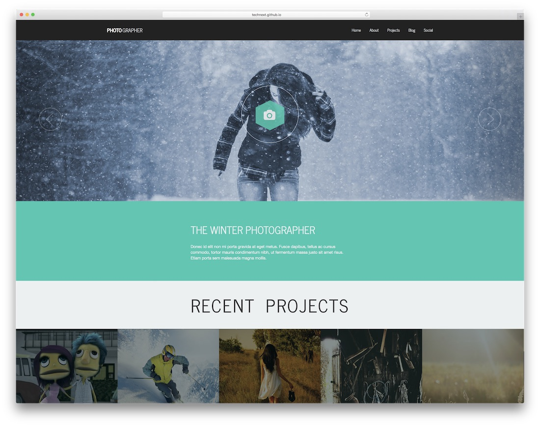 photographer plus best free photography website template