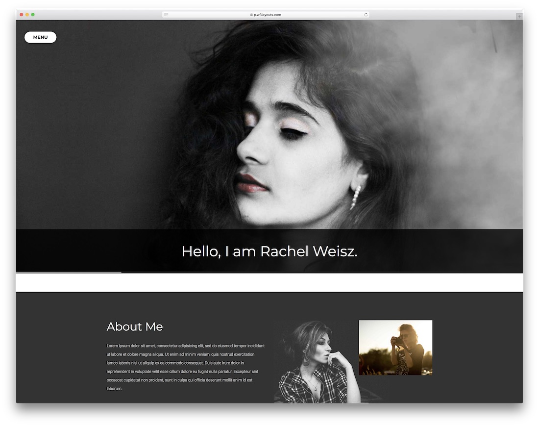photographer portfolio free bootstrap gallery template