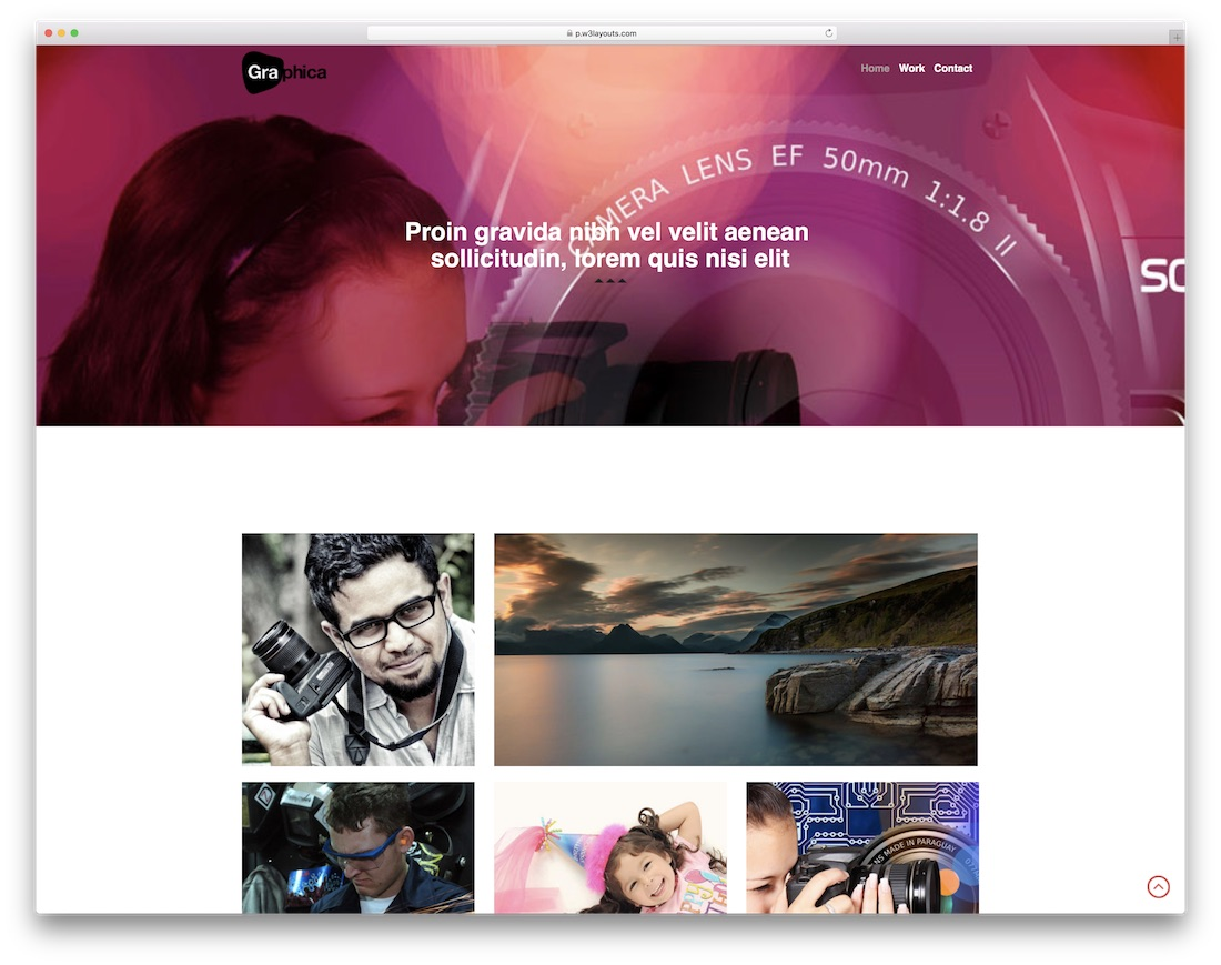 photographica free bootstrap gallery template