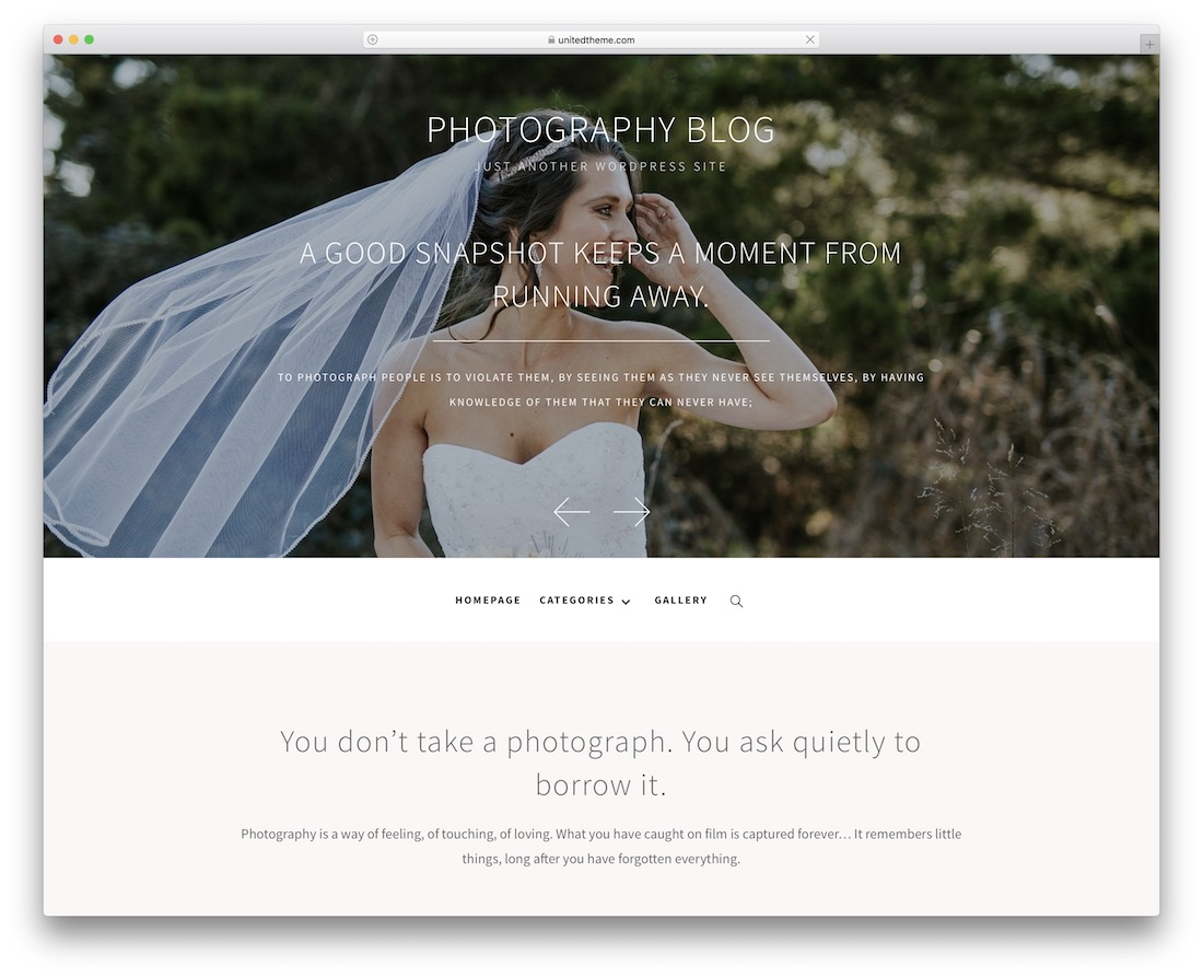 photography blog free wordpress theme