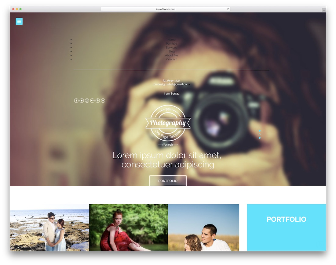 photography free bootstrap gallery template