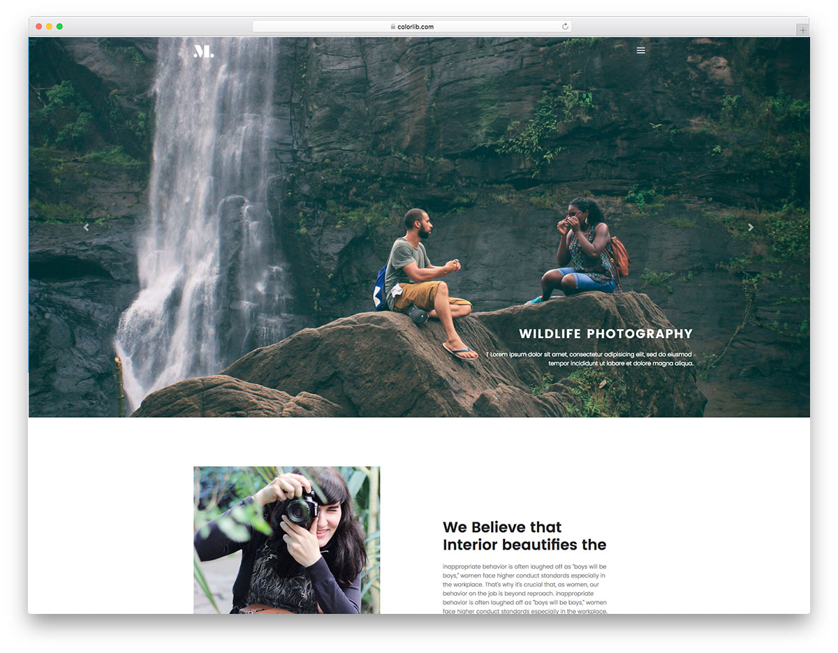 Photography free photography website template